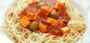 Рецепт пасты с тофу и оливками