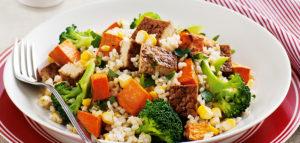 Рецепты из тофу с рисом и овощами