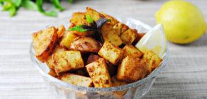 Рецепт тофу с жаренным картофелем